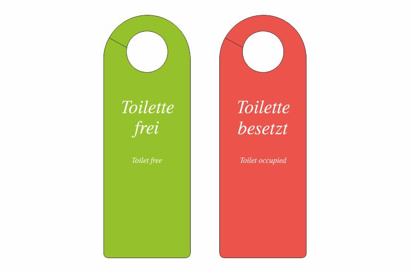 Turanhanger Toilette Frei Toilette Besetzt 2 Sprachen De Gb